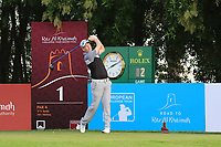 Steven Tiley (ENG) during the first round of the Ras Al Khaimah Challenge Tour Grand Final played at Al Hamra Golf Club, Ras Al Khaimah, UAE. 31/10/2018<br />