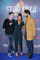 Jason Isaacs, Sonequa Martin-Green &amp; Shazad Latif at the special fan screening for &quot;Star Trek Discovery&quot; at Millbank Tower, London, UK. <br /> 05 November  2017<br /> Picture: Steve Vas/Featureflash/SilverHub 0208 004 5359 sales@silverhubmedia.com