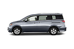 Car Driver side profile view of a 2017 Nissan Quest SV 5 Door Minivan Side View
