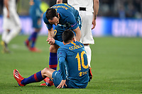 Juanfran and Angel Correa of Atletico Madrid look dejected during the Uefa Champions League 2018/2019 round of 16 second leg football match between Juventus and Atletico Madrid at Juventus stadium, Turin, March, 12, 2019 <br />  Foto Andrea Staccioli / Insidefoto