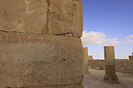 Isarael, Negev, Avdat, built in the 1st century by the Nabateans. A world Heritage Site as part of the Spice Route, Avdat, ruins of the Southern Church