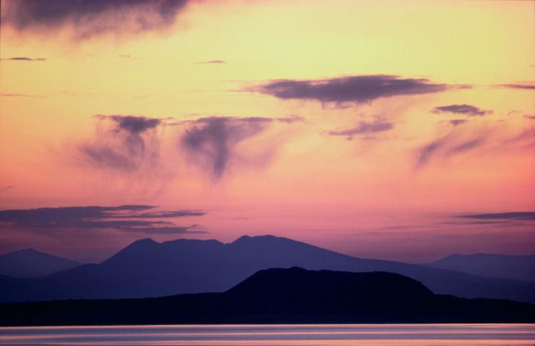 Sunrise over Negit Island, Mono Lake, California 1980
