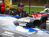 Jun 20, 2015; Bristol, TN, USA; NHRA pro stock driver Richie Stevens during qualifying for the Thunder Valley Nationals at Bristol Dragway. Mandatory Credit: Mark J. Rebilas-