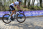 German National Champion Pascal Ackermann (GER) Bora-Hansgrohe on the the first ascent of the Kemmelberg during the 2019 Gent-Wevelgem in Flanders Fields running 252km from Deinze to Wevelgem, Belgium. 31st March 2019.<br /> Picture: Eoin Clarke | Cyclefile<br /> <br /> All photos usage must carry mandatory copyright credit (© Cyclefile | Eoin Clarke)