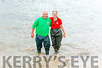 Fiona Welton (Fossa RC) and Brendan Walsh testing the water before the race at the Fenit Regatta on Sunday