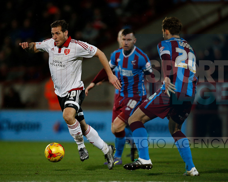 Billy Sharp of Sheffield Utd - English League One - Scunthorpe Utd vs Sheffield Utd - Glandford Park Stadium - Scunthorpe - England - 19th December 2015 - Pic Simon Bellis/Sportimage