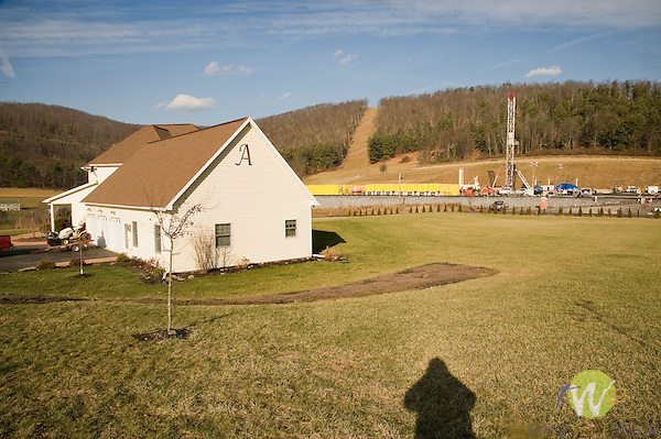 Natural Gas Drilling Industry. Exco Resources, Pa, LLC. 13880 W. Route 973  Hwy. Cindy and Craig Allen's Home.
