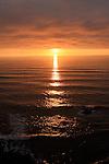 Sunset near Davenport, CA