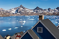 The colorful and remote village of Tasiilaq, east Greenland