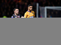 Mansfield Town's CJ Hamilton under pressure from Lincoln City's Neal Eardley<br /> <br /> Photographer Chris Vaughan/CameraSport<br /> <br /> The EFL Sky Bet League Two - Mansfield Town v Lincoln City - Monday 18th March 2019 - Field Mill - Mansfield<br /> <br /> World Copyright © 2019 CameraSport. All rights reserved. 43 Linden Ave. Countesthorpe. Leicester. England. LE8 5PG - Tel: +44 (0) 116 277 4147 - admin@camerasport.com - www.camerasport.com