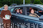 Madeline O'Connor  with seated l-r: Caraiosa Ahern, Ava Harnett and Catriona Ahern Knocknagoshel enjoying St Pauls BC drive in bingo  in Killarney on Sunday evening