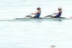 Shiho Yonekawa &  Sayaka Chujo (JPN), <br /> AUGUST 23, 2018 - Rowing : <br /> Women's Double Sculls Final <br /> at Jakabaring Sport Center Lake <br /> during the 2018 Jakarta Palembang Asian Games <br /> in Palembang, Indonesia. <br /> (Photo by Yohei Osada/AFLO SPORT)