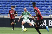16th July 2020; Nice, France; Veolia Trohy Football friendly, OGC Nice versus Celtic FC;  Scott Brownof celtic plays the ball forward