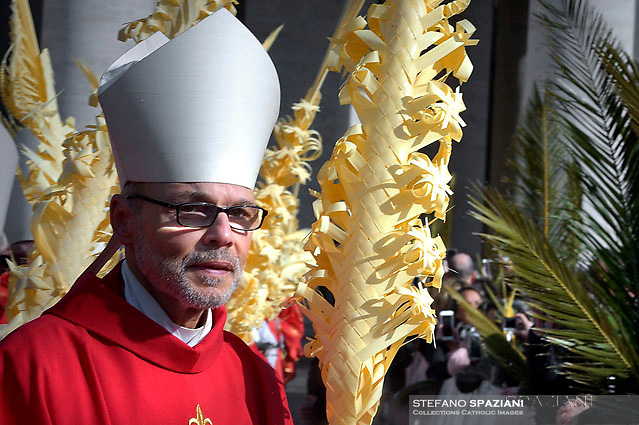 Bishop Franz-Peter Tebartz-van Els.Pope Francis during of the Palm Sunday celebration on St Peter's square at the Vatican.April 24,2018