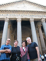 Outside the Pantheon, Rome.