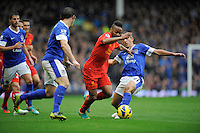 28.10.2012 Liverpool, England.    in action during the Premier League game between Everton and Liverpool  from Goodison Park ,Liverpool