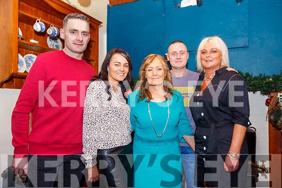 70th Birthday: Mai O'Rahilly, Chutehall, Ballymacelligott celebrating her 70th birthday with her family at Herbert's Bar, Kilflynn on Saturday night last. L-R; Maurice O'Rahilly, Kay O'Leary, Mai, Der & Sheilann O'Rahilly.