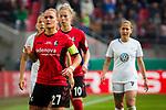 01.05.2019, RheinEnergie Stadion , Köln, GER, DFB Pokalfinale der Frauen, VfL Wolfsburg vs SC Freiburg, DFB REGULATIONS PROHIBIT ANY USE OF PHOTOGRAPHS AS IMAGE SEQUENCES AND/OR QUASI-VIDEO<br /> <br /> im Bild | picture shows:<br /> Clara Schoene (SC Freiburg Frauen #27) fokussiert, <br /> <br /> Foto © nordphoto / Rauch