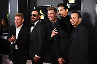 Brian Littrell, from left, AJ McLean, Nick Carter, Kevin Richardson, and Howie Dorough of The Backstreet Boys arrive at the 61st annual Grammy Awards at the Staples Center on Sunday, Feb. 10, 2019, in Los Angeles. (Photo by Jordan Strauss/Invision/AP)