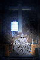 The Pieta by Michaelangelo St Peter's Basilica at the Vatican  particularly  statue,Pope Benedict XVI celebrates a mass for Cardinals who died during the year on November 4, 2010 at St Peter Basilica at The Vatican.