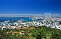 South Africa, Cape Town, view from Signal Hill at Cape Town City
