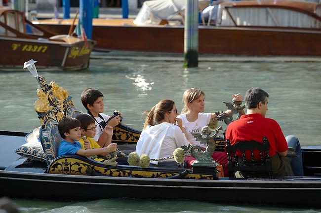 Family in a Godola, Venice