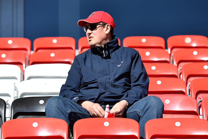 Fans at Fleetwood Town<br /> <br /> Photographer Terry Donnelly/CameraSport<br /> <br /> The EFL Sky Bet League One Play-Off Second Leg - Fleetwood Town v Bradford City - Sunday 7th May 2017 - Highbury Stadium - Fleetwood<br /> <br /> World Copyright &copy; 2017 CameraSport. All rights reserved. 43 Linden Ave. Countesthorpe. Leicester. England. LE8 5PG - Tel: +44 (0) 116 277 4147 - admin@camerasport.com - www.camerasport.com