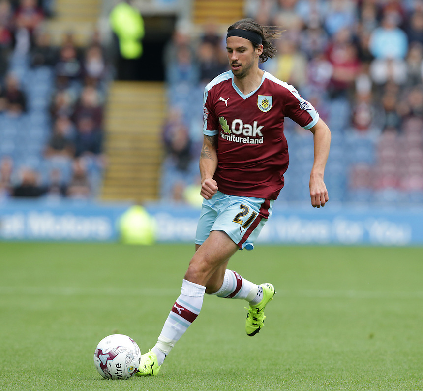 Burnley's George Boyd<br /> <br /> Photographer Stephen White/CameraSport<br /> <br /> Football - The Football League Sky Bet Championship - Burnley v Birmingham City - Saturday 15th August 2015 - Turf Moor - Burnley<br /> <br /> &copy; CameraSport - 43 Linden Ave. Countesthorpe. Leicester. England. LE8 5PG - Tel: +44 (0) 116 277 4147 - admin@camerasport.com - www.camerasport.com