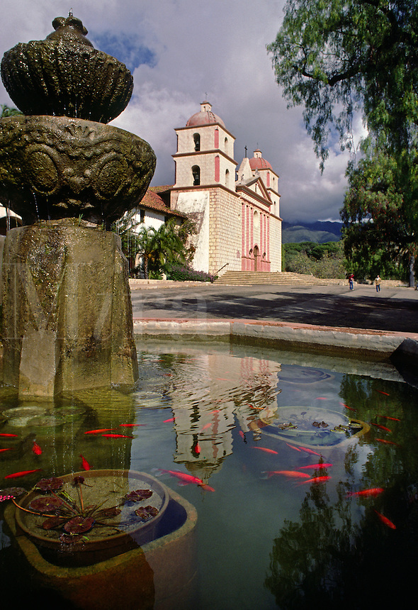 The SANTA BARBARA MISSION is one of the best examples of FATHER JUNIPERO SERRA'S California Missions