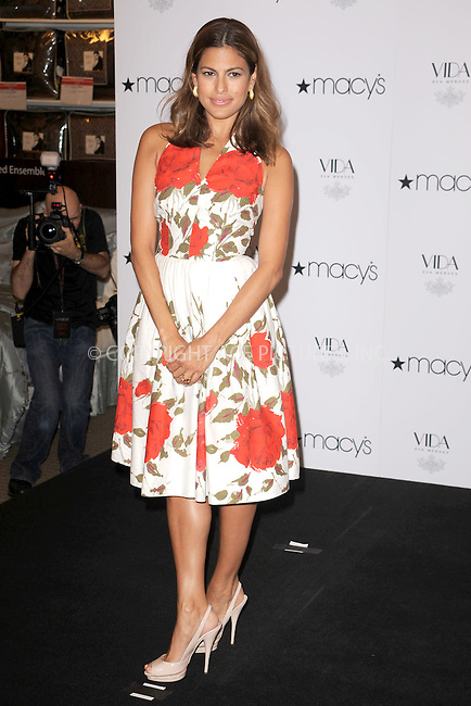 WWW.ACEPIXS.COM . . . . . .July 22 2009, New York City....Actress Eva Mendes stops by Macy's Herald Square to celebrate the launch of her new home collection, Vida by Eva Mendes. July 25, 2009 in New York City....Please byline: KRISTIN CALLAHAN - ACEPIXS.COM.. . . . . . ..Ace Pictures, Inc: ..tel: (212) 243 8787 or (646) 769 0430..e-mail: info@acepixs.com..web: http://www.acepixs.com .