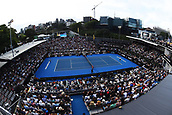 10th January 2018, ASB Tennis Centre, Auckland, New Zealand; ASB Classic, ATP Mens Tennis;  General view of Centre court during the Juan Martin Del Potro (ARG) and Denis Shapovalov (CAN) match during the ASB Classic ATP Men's Tournament Day 3