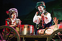 Redhill, UK. 01.02.2013. Birmingham Stage Company presents Horrible Histories - Terrible Tudors. Picture shows: Tessa Vle, Christopher Gunter and Ashley Bowden. Photo credit: Jane Hobson.