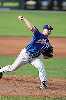 August 7 2008:  Pitcher Jason Roenicke of the Auburn Doubledays, Class-A affiliate of the Toronto Blue Jays, during a game at Dwyer Stadium in Batavia, NY.  Photo by:  Mike Janes/Four Seam Images