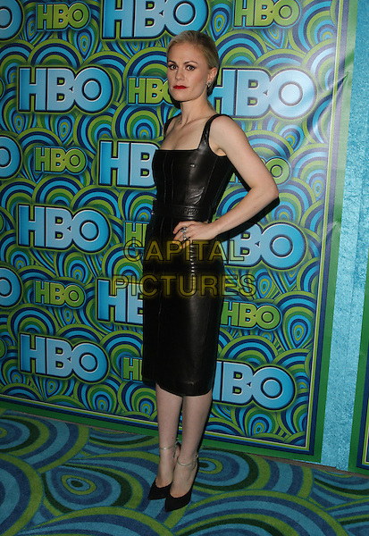 Anna Paquin<br /> HBO's Post Emmy Awards Reception Held at Pacific Design Center, West Hollywood, California, USA.<br /> September 22nd, 2013<br /> full length black leather dress hand on hip  <br /> CAP/ADM/KB<br /> &copy;Kevan Brooks/AdMedia/Capital Pictures