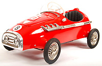 BNPS.co.uk (01202 558833)<br /> Pic: EastBristolAuctions/BNPS<br /> <br /> £1200 - A rare original unused vintage 1960's Pines of Italy Monza child's pedal car<br />   <br /> Toy story...<br /> <br /> A remarkable lifetime collection of 30 vintage toy cars has emerged for sale for more than £65,000.<br /> <br /> The fleet of rare pedal cars were acquired over almost half a century by retired car garage owner David Worrow, 72.<br /> <br /> During their time with Mr Worrow they formed what was believed to be the biggest private collection of its kind in the world.