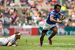 Unites States vs Samoa during the HSBC Sevens Wold Series Cup Quarter Finals match as part of the Cathay Pacific / HSBC Hong Kong Sevens at the Hong Kong Stadium on 29 March 2015 in Hong Kong, China. Photo by Xaume Olleros / Power Sport Images