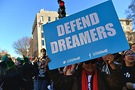 Washington, DC - January 19, 2018: Dream Act supporters great tens of thousands of people participating in the annual March for Life in Washington, D.C. January 19, 2018 as they march to the U.S. Supreme Court.  (Photo by Don Baxter/Media Images International)