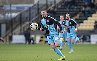 Michael Harriman of Wycombe Wanderers in action during the Sky Bet League 2 match between Notts County and Wycombe Wanderers at Meadow Lane, Nottingham, England on 28 March 2016. Photo by Andy Rowland.
