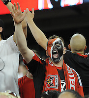 D.C. United fan. D.C. United defeated The New England Revolution 3-2 at RFK Stadium, Saturday May 26, 2012.