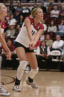 27 October 2005: Jessica Fishburn during Stanford's 3-0 win over Oregon in Stanford, CA.
