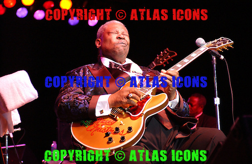 SUNRISE, FL - DECEMBER 27:  BB King performs at the Sunrise Arts Center on December 27, 2002 in Sunrise Florida.  (Photo by Larry Marano (C) 2002