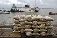 Brazil,Belém : 24/04/2006 - The most fascinating places in Belém do Pará, on the Amazon delta, is the river market called Ver-o-Peso (Check-the-Weight)