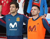 Spanish's player Saul<br /> Spain vs Argentina selections team pre Russian Soccer World Cup football match at Wanda Metropolitano stadium in Madrid on March 27, 2018.