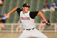 Relief pitcher Leroy Hunt #40 of the Kannapolis Intimidators in action versus the Lake County Captains at Fieldcrest Cannon Stadium May 3, 2009 in Kannapolis, North Carolina. (Photo by Brian Westerholt / Four Seam Images)