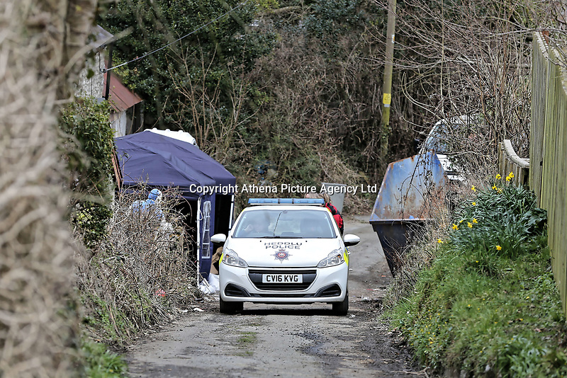 "Pictured: Police and forensics officers at the house in Aberaeron, where the remains of a woman have been discovered in Ceredigion County, Wales, UK. Wednesday 21 March 2018<br /> Re: Human remains have been found in a house following a police investigation to find a missing woman.<br /> Police were called to the property in Aberaeron, west Wales after a woman in her 50s collapsed.<br /> Police also discovered the woman's mother, in her 80s, who had not been seen for some time.<br /> The women were named locally as Gaynor and Valerie Jones, with police currently treating the death as unexplained.<br /> The two women have ben described as ""reclusive"" by neighbours and the home they shared as being ""heavily cluttered"".Pictured: Police and forensics officers at the house in Aberaeron, where the remains of a woman have been discovered in Ceredigion County, Wales, UK. Wednesday 21 March 2018<br /> Re: Human remains have been found in a house following a police investigation to find a missing woman.<br /> Police were called to the property in Aberaeron, west Wales after a woman in her 50s collapsed.<br /> Police also discovered the woman's mother, in her 80s, who had not been seen for some time.<br /> The women were named locally as Gaynor and Valerie Jones, with police currently treating the death as unexplained.<br /> The two women have ben described as ""reclusive"" by neighbours and the home they shared as being ""heavily cluttered""."