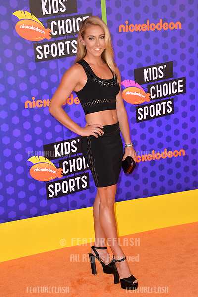Mikaela Shiffrin at the Nickelodeon Kids' Choice Sports Awards 2018 at Barker Hangar, Santa Monica, USA 19 July 2018<br /> Picture: Paul Smith/Featureflash/SilverHub 0208 004 5359 sales@silverhubmedia.com