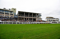 A packed Grandstand on the last meeting of the season during Bathwick Tyres Reduced Admission Race Day at Salisbury Racecourse on 9th October 2017