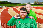 Castleisland Olympian Gary O'Sullivan with his mum Mags who is travelling to Dubai to compete in the shot putt and walking event at the World Games Special Olympics in Abu Dhabi in March