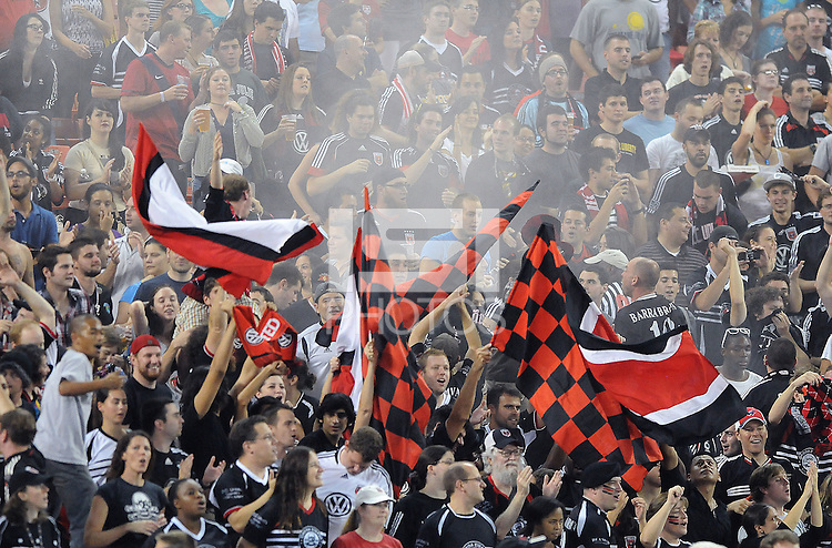 D.C. United fans. D.C. United defeated Real Salt Lake 4-1 at RFK Stadium, Saturday September 24 , 2011.