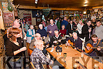 Cahersiveen provided a great weekend of Music and song at the Mountain Roots Music Weekend pictured here, 'Mac's Melting Post Session' held in Mike Murts Bar Cahersiveen on Sunday evening with local musicians joining some of band musicians who were playing over the weekend.